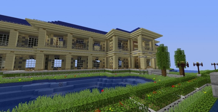 Minecraft-House-Luxury-HD-Wallpaper