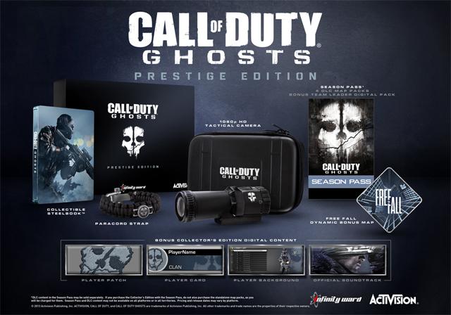 COD Ghosts Prestige Edition